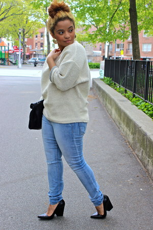 eggshell oversized American Apparel sweater