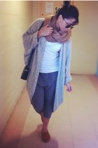 long cardigan American Apparel cardigan - circle scarf H&M scarf