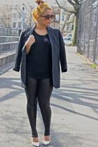black Topshop leggings - black American Apparel shirt