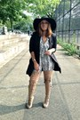 Nude-tony-bianco-boots-black-nasty-gal-blazer-white-thrifted-vintage-jumper