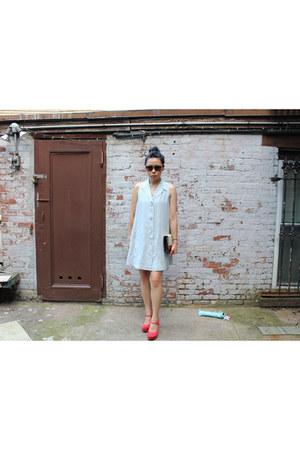 Michael Kors dress - calvin klein bag - rayban sunglasses - Kimchi Blue wedges
