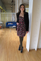 polka dots modcloth dress - patent leather Jeffrey Campbell heels