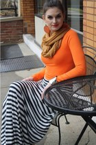acrylic camel ModCloth scarf - cotton striped Pavement skirt