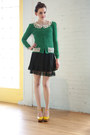Green-modcloth-cardigan-yellow-jeffrey-campbell-wedges-black-modcloth-skirt
