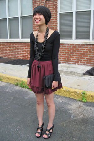Forever 21 skirt - Forever 21 shoes - black aa dress