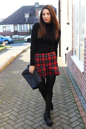 Zara skirt - Zara bag - Matalan jumper