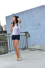 Blue-187-blouse-blue-forever-21-shorts-silver-shoes-silver-purr-necklace