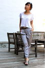 White-lf-top-silver-pants-gray-shoes-black-celine-sunglasses-silver-earr