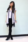 Gray-imaxine-cardigan-black-shorts-black-shoran-shoes-white-top-black-ce