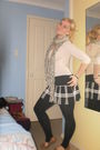 Beige-supre-top-beige-supre-scarf-black-supre-skirt-black-free-fusion-legg