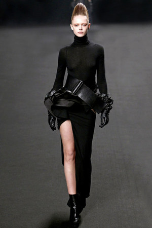 black leather Haider Ackermann boots - black Haider Ackermann dress