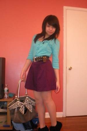 Zara sweater - The Limited skirt - calvin klein belt - Forever21 purse - Steve M