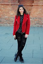 Stradivarius jacket - Geox boots - Stradivarius jeans - Stradivarius shirt