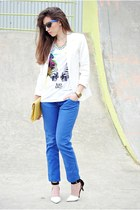 Zara shirt - PERSUNMALL blazer - Pimkie pants - Zara heels