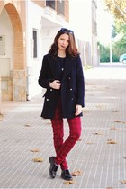 Stradivarius coat - CNdirect sweater - Zara pants
