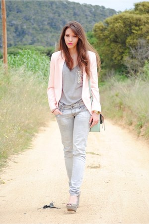 BLANCO bag - Zara shoes - Mango blazer - Zara shirt - Stradivarius pants