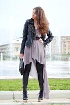 Teenagers jacket - Zara boots - inlovewithfashion dress - Teenagers bag