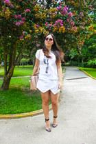 Mango shirt - Parfois purse - Steve Madden heels - Iconicas skirt