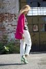 Bershka-jeans-oversized-zara-jacket-black-and-white-h-m-shirt