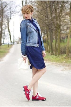 jeans jacket cropp jacket - long shirt Zara shirt - Cubus bag