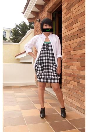 white indian blouse - black witchie aldo nero shoes - black Forever 21 dress