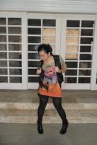 black Trunkshow vest - Love Culture top - black maldita shorts - black stockings