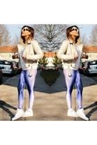 white Miu Miu sunglasses - off white Primark jacket