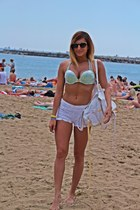 off white Bershka shorts - silver Victorias Secret swimwear