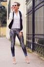 Silver-sequin-h-m-leggings-ivory-zara-blazer-ivory-miu-miu-sunglasses