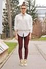 Off-white-romwe-shirt-brick-red-bershka-pants-off-white-choies-blouse
