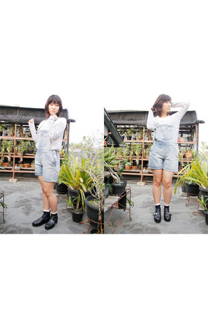 periwinkle dungaree Topshop shorts - black Decimal shoes