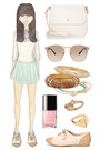 mint leather Oasis skirt - Zara shoes - Mulberry bag