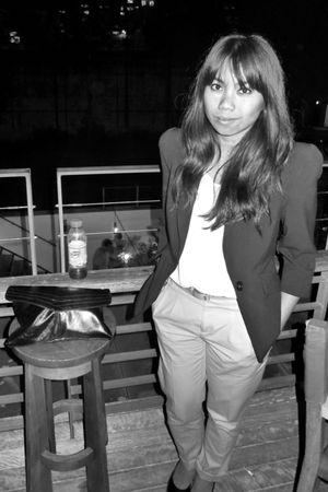 Cue jacket - Marcs pants - portmans blouse - Country Road belt - tony bianco sho