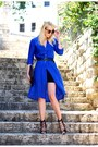 Blue-mango-dress-black-asos-bag-black-zara-heels