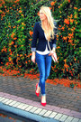 Blue-zara-jeans-navy-zara-blazer-off-white-forever-21-bag
