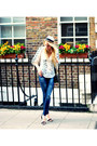 White-mango-shirt-navy-zara-jeans-off-white-forever-21-hat