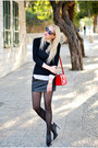 White-pull-bear-shirt-red-asos-bag-black-mango-skirt-black-zara-heels