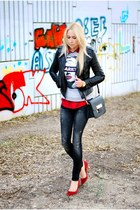 gray Mango jeans - silver Forever 21 sweater - brick red Zara pumps