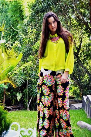 Exotic blouse - Zara pants - Kiss necklace
