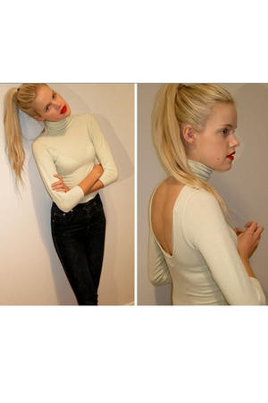 acne top - Filippa K jeans - mac