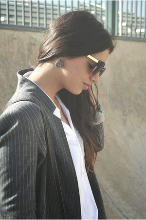 silver pinstripe Zara blazer