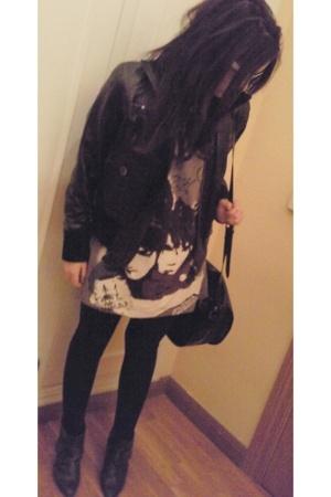 MNG jacket - Zara boots - MSK accessories - Ray Ban glasses - Zara shirt