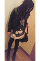 MNG jacket - Zara boots - MSK accessories - Ray Ban glasses - Zara shirt