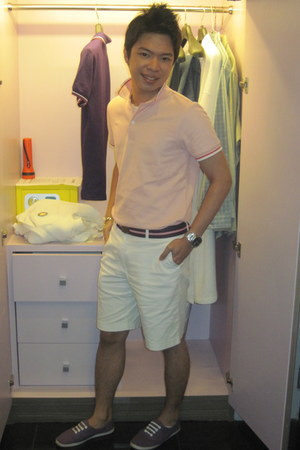 giordano t-shirt - CELIO belt - citizens of humanity shorts - Kenneth Cole acces