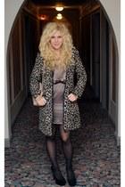 H&M coat - Akira dress - Kelsi Dagger shoes