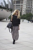 American Living sweater - Wanted Shoes boots - maxi dress dress