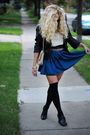 Blue-american-apparel-skirt-beige-american-apparel-belt-black-ciao-bella-sho