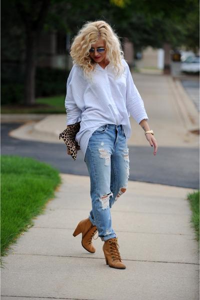 BDG top - Seychelles boots - BDG jeans - Clare Vivier bag