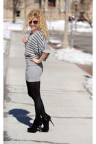 gray Mink Pink dress - black Target tights - black Steve Madden boots