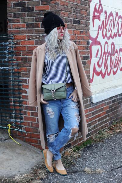Rebecca Minkoff bag - firmoo glasses - tiekss flats - madewell top